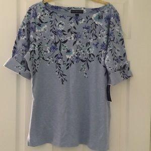 NEW! 💎 Short Sleeve floral printed boatneck top